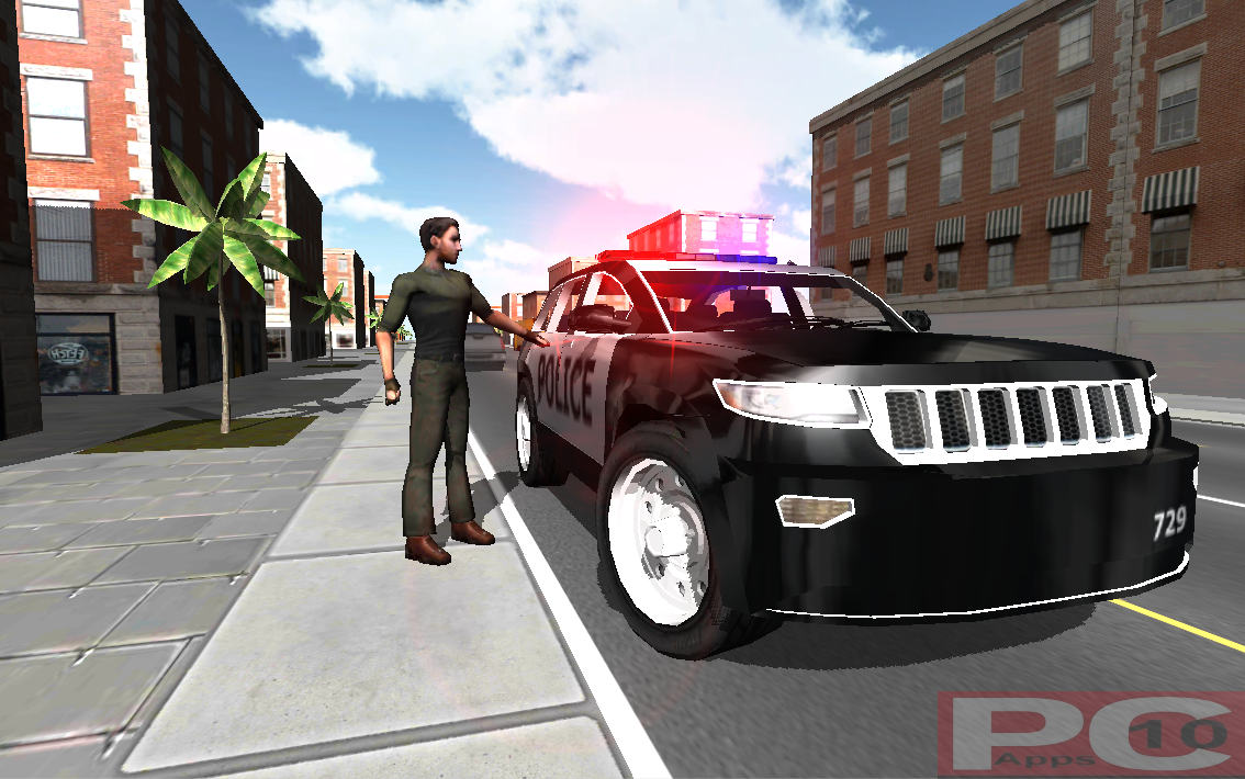 Police Driving In Car FOR PC WINDOWS (10/8/7) AND MAC