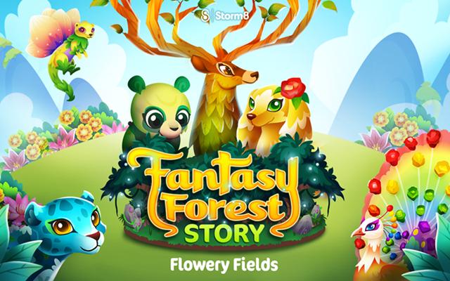 Fantasy Forest Flowery 1