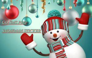 go-sms-pro-snowman-sticker